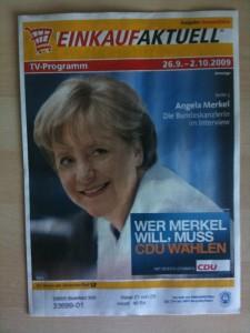 Werbung für Merkel